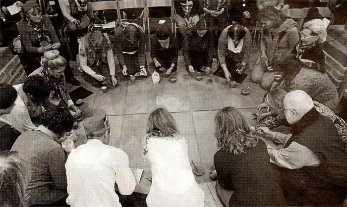Rangoli Landshut meditiert